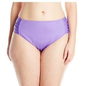 NWT Cole of California Plus Shirred Bikini Bottom
